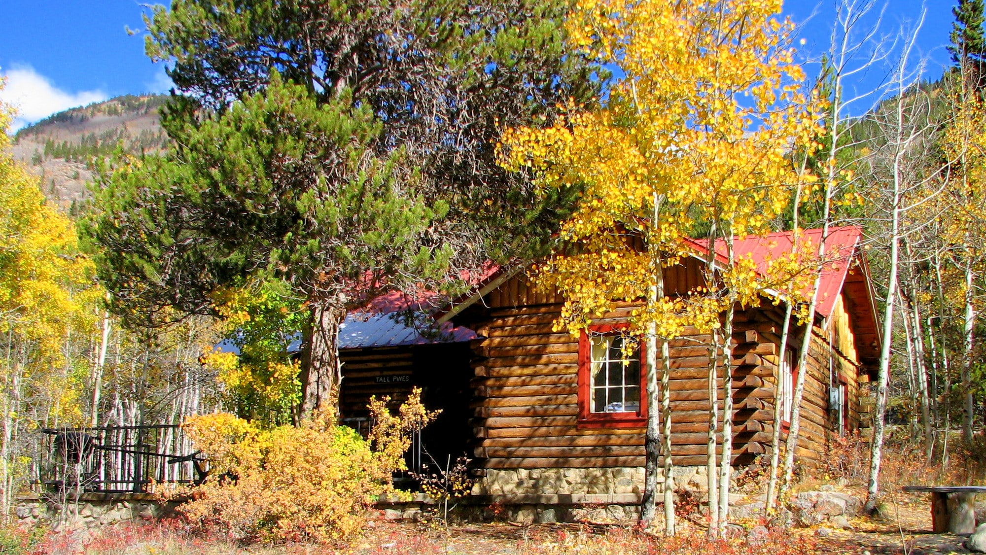 You've got to love any cabin in the fall at Mt Elbert Lodge