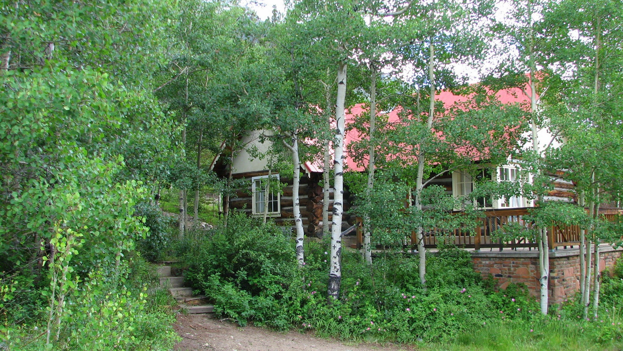 Lost in the aspens in the summer, Trails End cabin is a summer cabin.