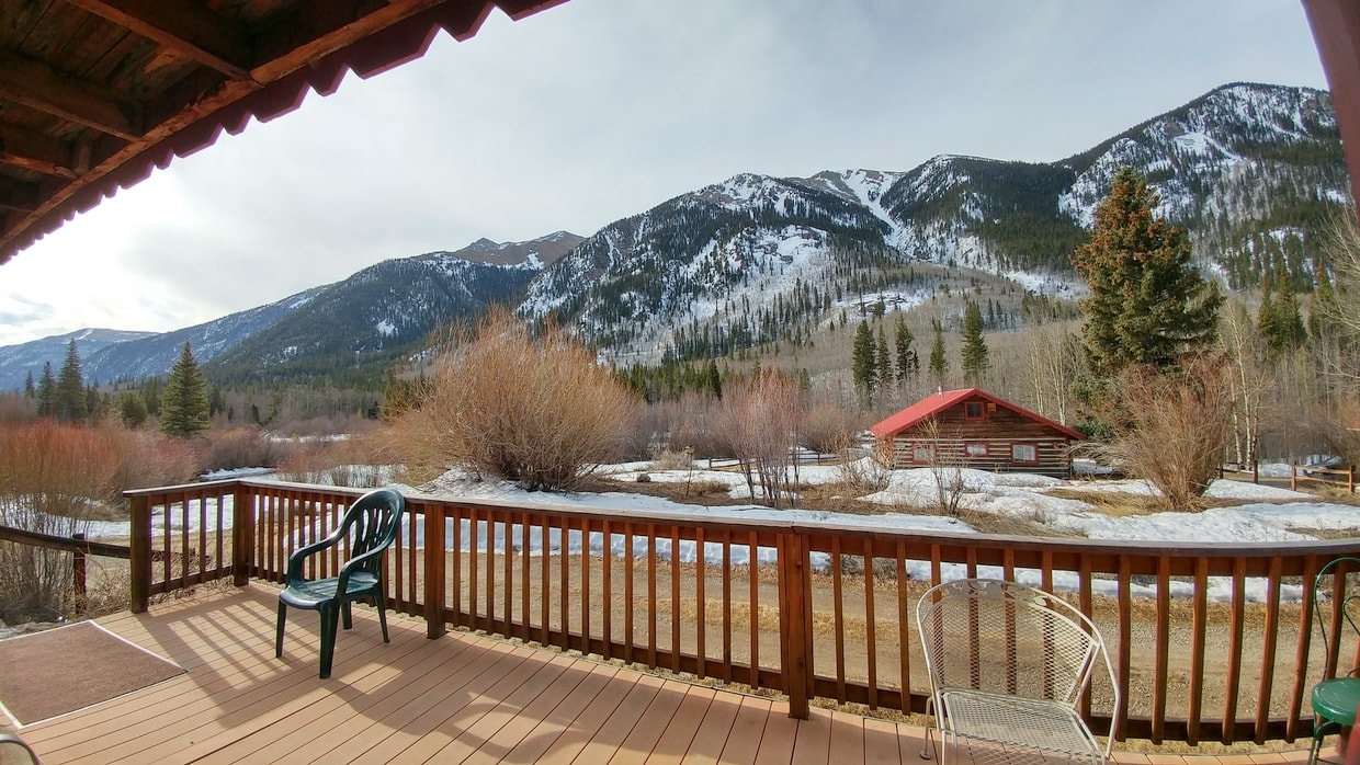 Relax on the back deck of your cabin