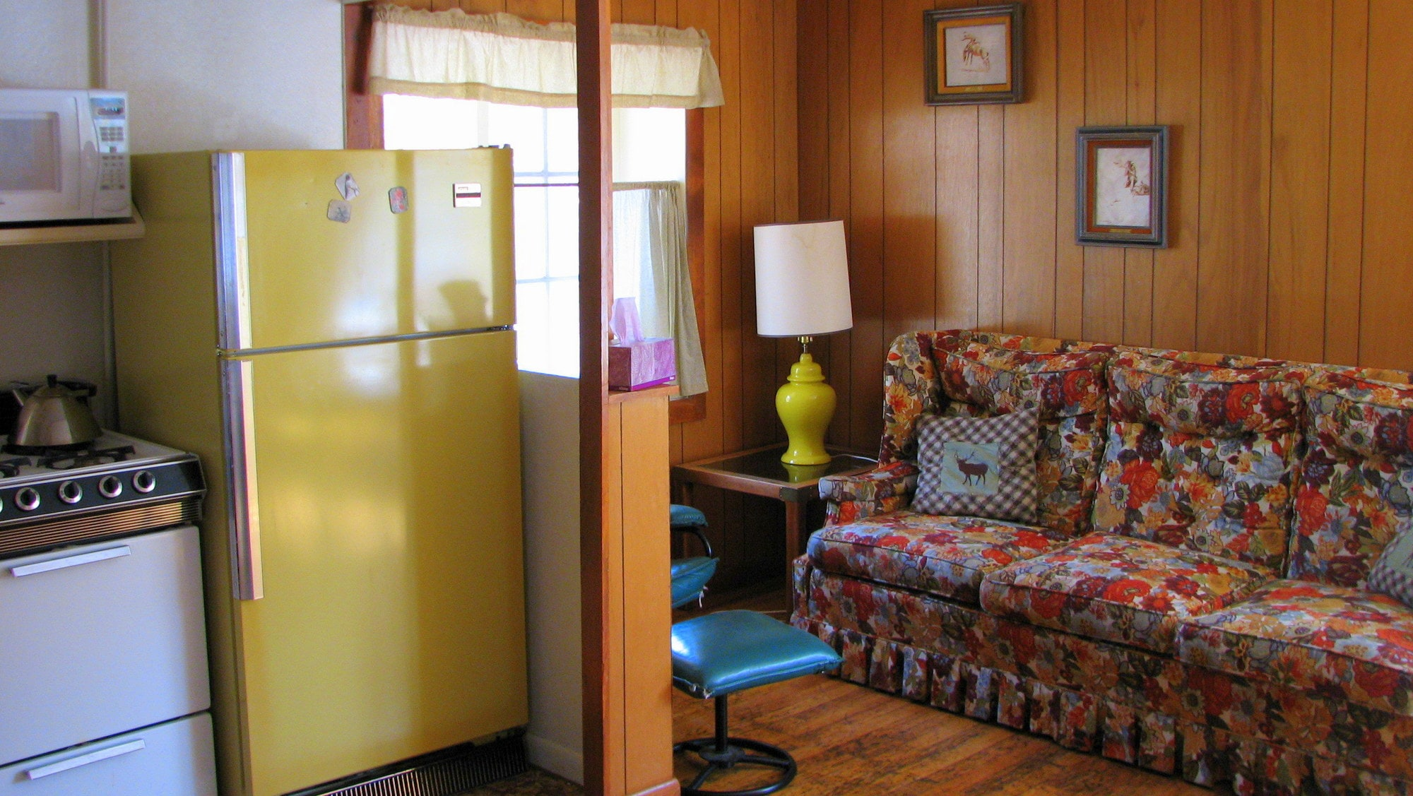 Each cabin is equipped with basic pots and pans and table service.